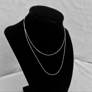 Italian Sterling Silver Chain Necklace 30 Inches